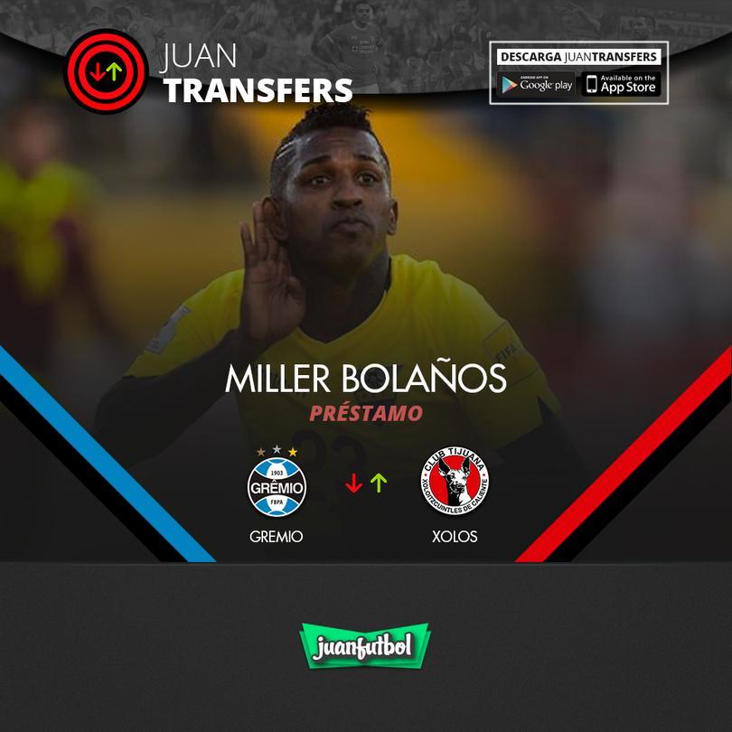 Miller Bolaños llegará a Xolos a préstamo