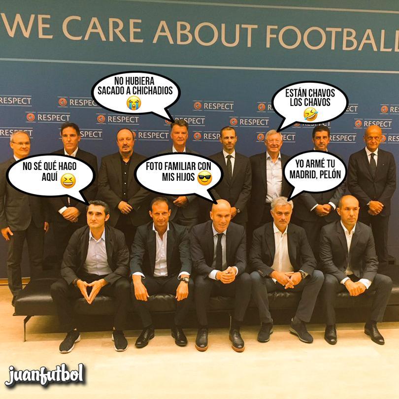 Los entrenadores después de su reunión