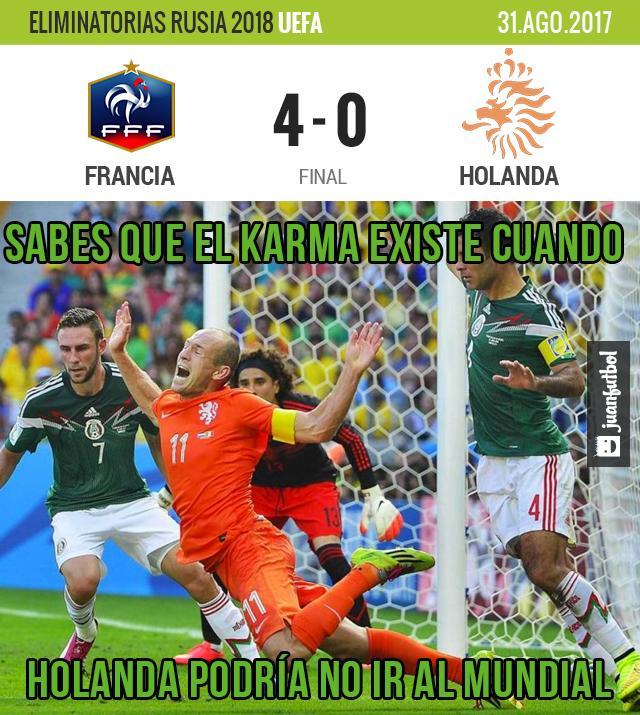 Francia le metió 4 goles a Holanda