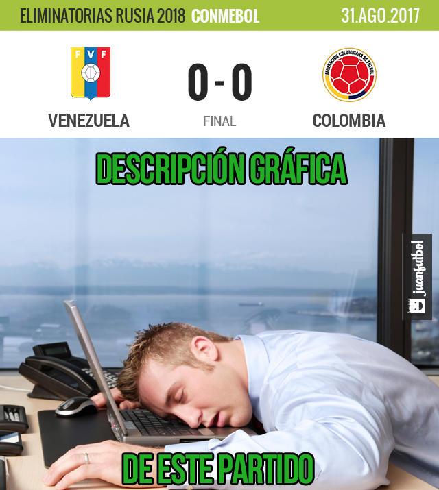 Colombia aburrió en su visita a San Cristóbal y empató sin goles con Venezuela
