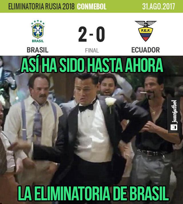 Brasil venció 2-0 a Ecuador con goles de Paulinho y Coutinho