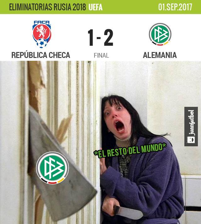 Alemania pudo vencer a República Checa