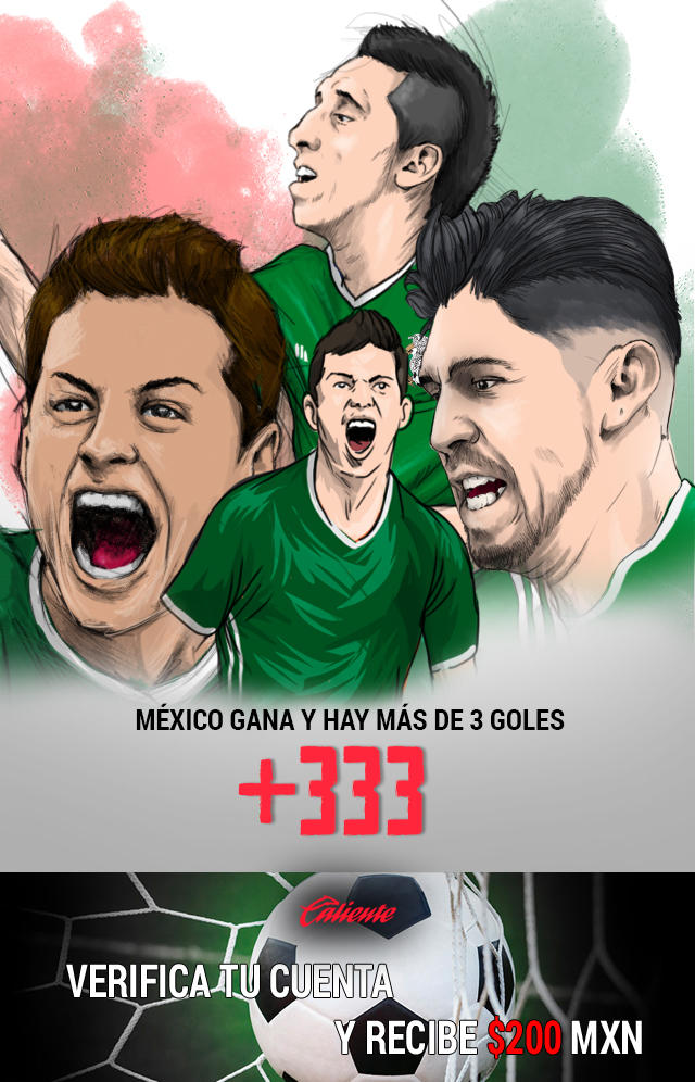 Si crees que México le gana a Panamá y hay más de tres goles en el partido, apuesta en Caliente y llévate mucho dinero.