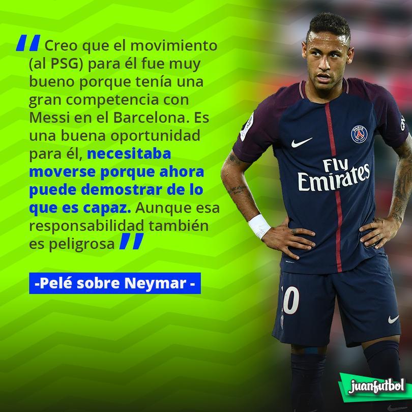 Pelé aseguró que el fichaje de Neymar al PSG fue una buena decisión