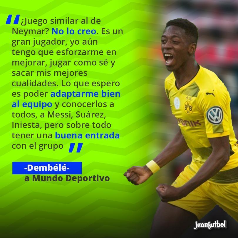 Dembélé habla sobre su llegada al Barcelona