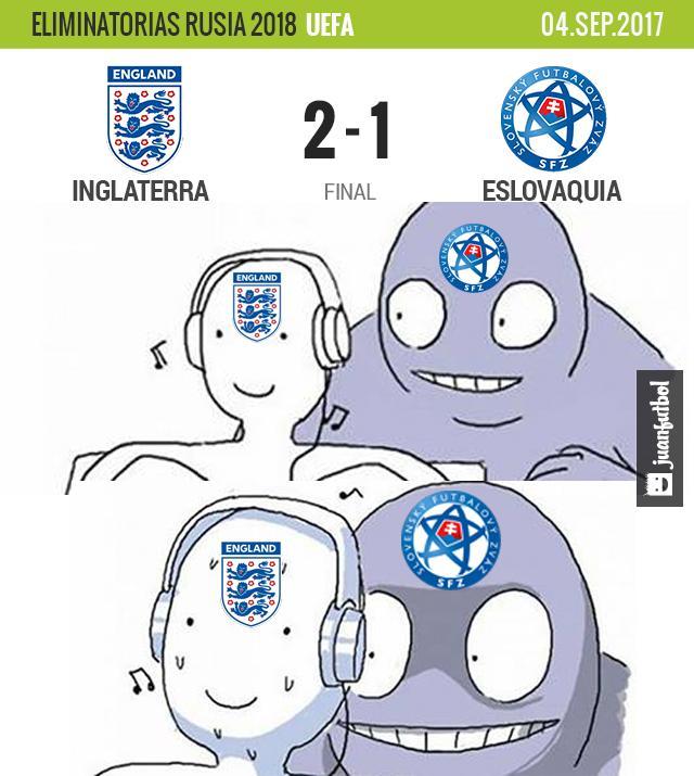 Inglaterra vs Eslovaquia