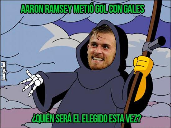 Aaron Ramsey volvió a meter