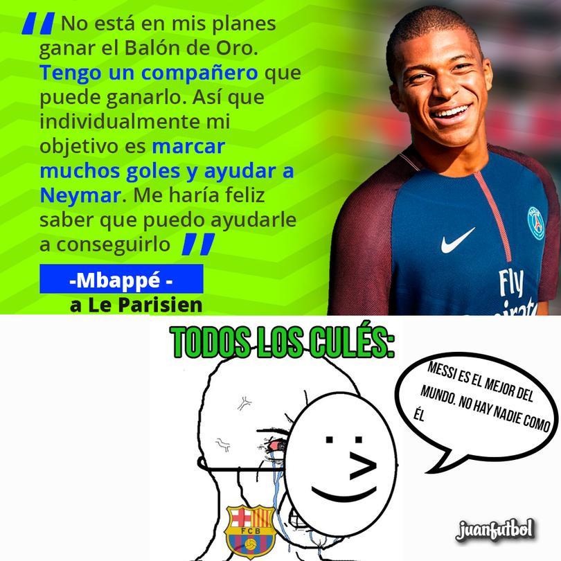 Mbappé quiere ayudar a Neymar a ganar el Balón de Oro
