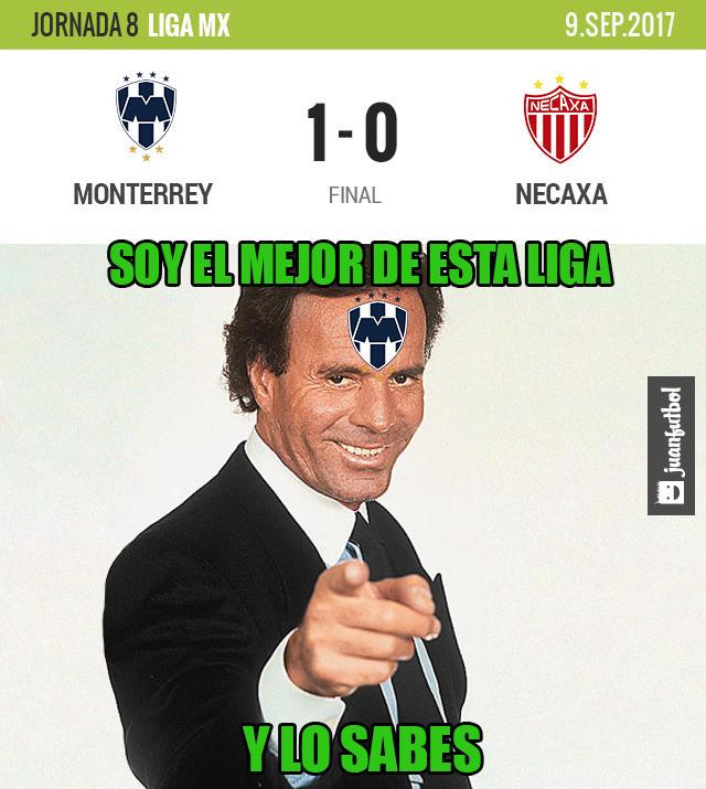 Monterrey venció 1-0 al Necaxa