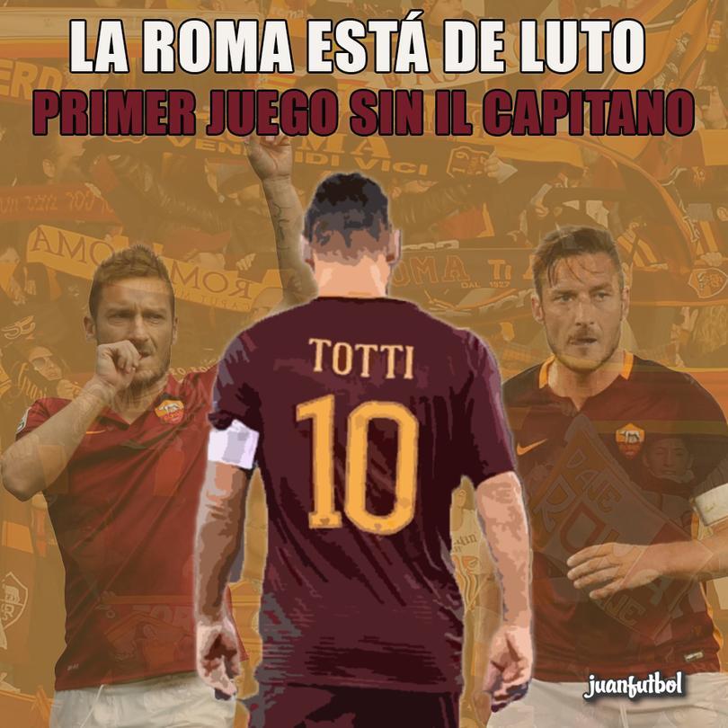 El juego contra el Atlético de Madrid será el primero de la Roma sin Il Capitano.