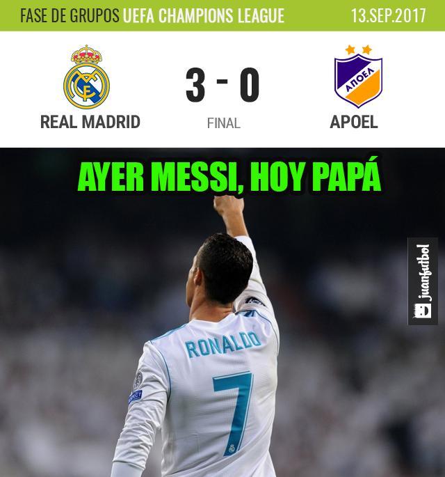 El Real Madrid gana 3-0 al Apoel.