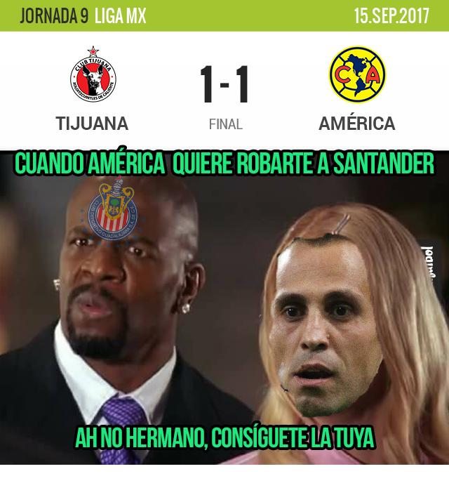 Tijuana y América empate