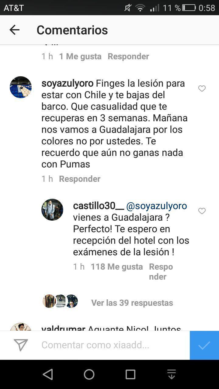 En una de las publicaciones de Instagram un fan no se aguantó las ganas de reclamarle