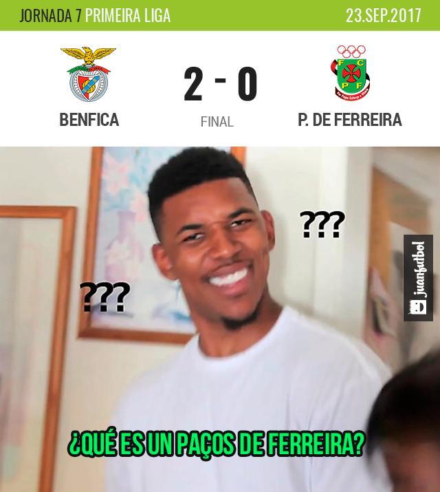 Benfica ganó, no importa cuando lo leas
