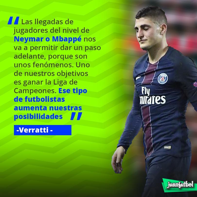 Verratti cree que pueden ganar la Champions