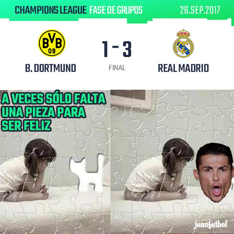Real Madrid gana 3-1 al Dortmund