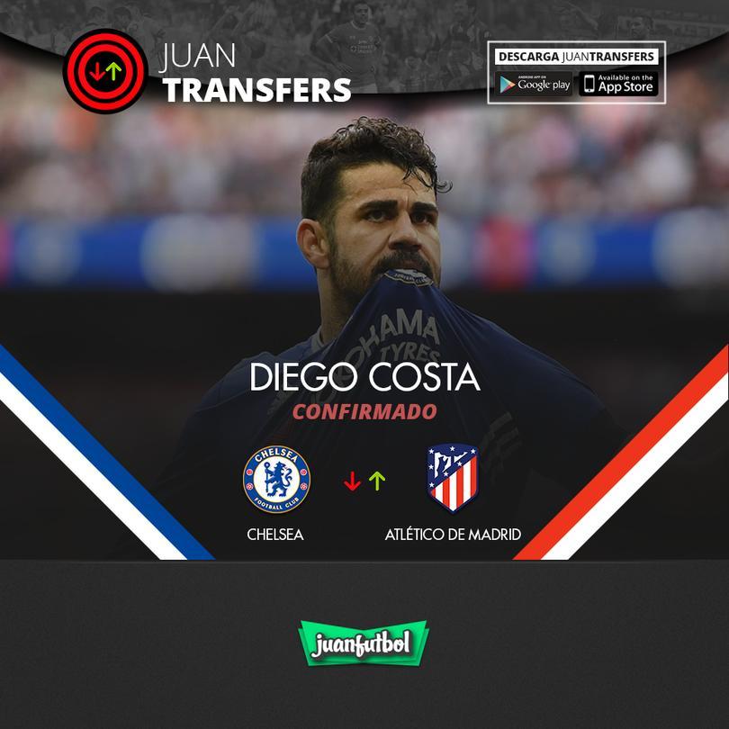 Costa ya es parte del Atlético de Madrid