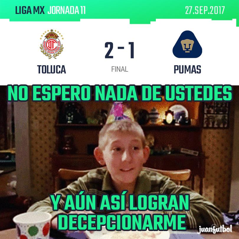 Resultado Toluca vs Pumas