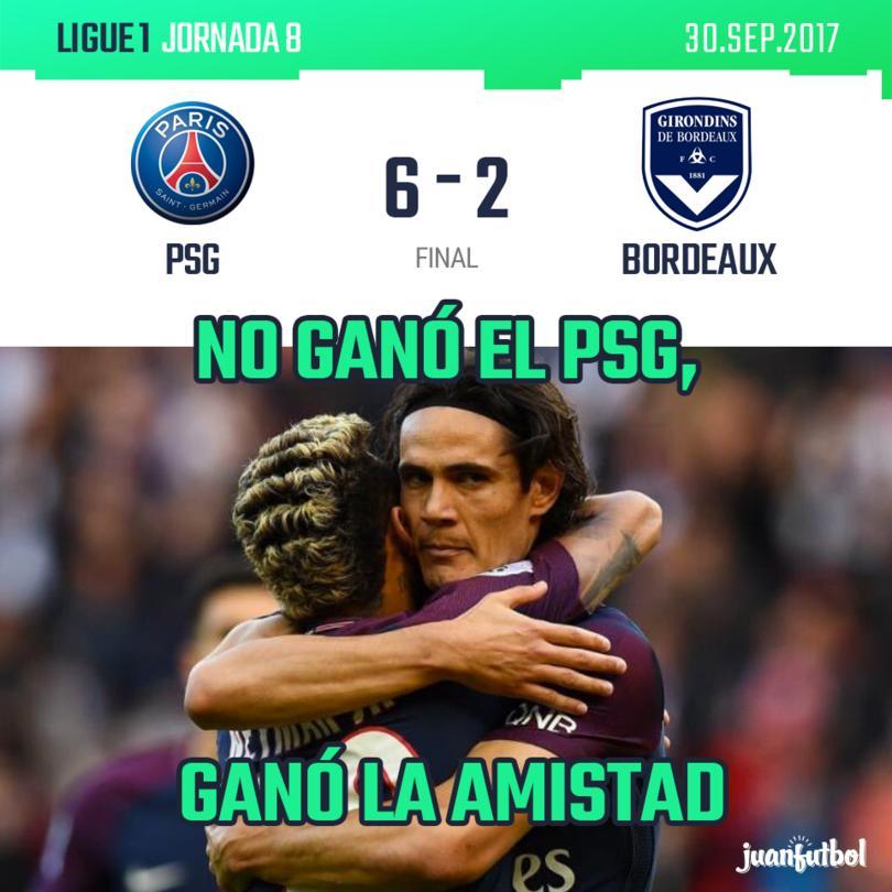 Doblete de Neymar y llega a 300 goles, asistencia de Ney a Cavani, todo el tridente MCN anota...