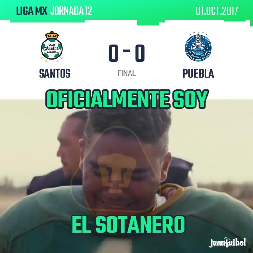 Aburrido empate de Santos y Puebla