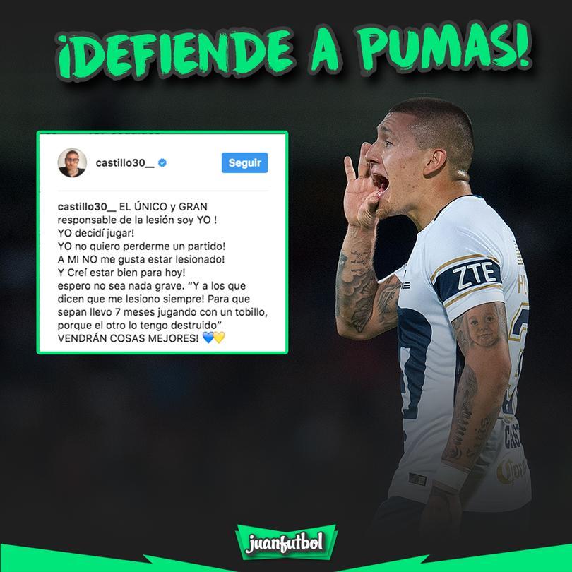 Nico Crackstillo defendió a sus Pumas