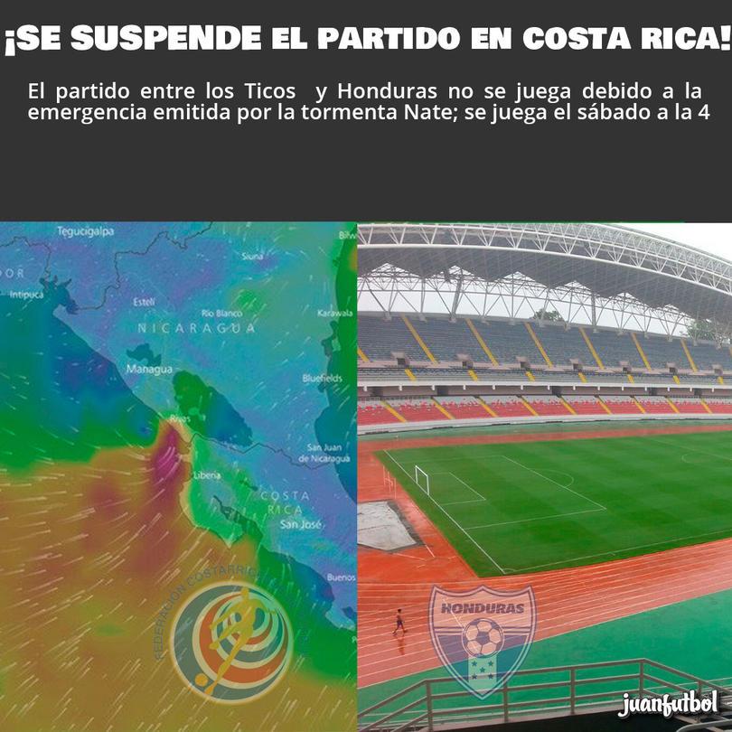Se suspende el juego en Costa Rica.