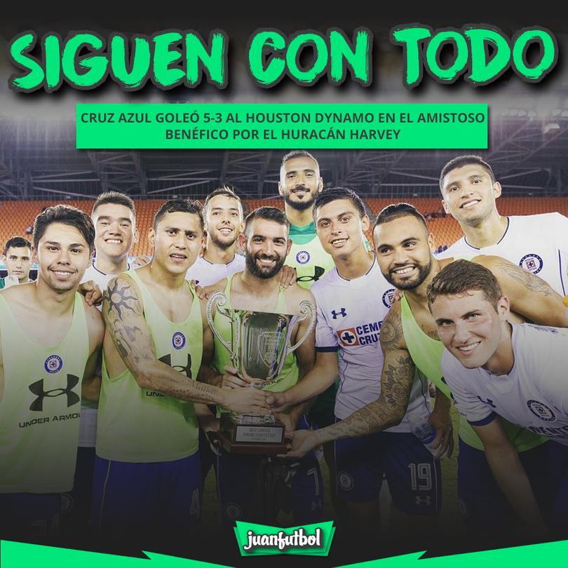 Cruz Azul ganó al Dynamo