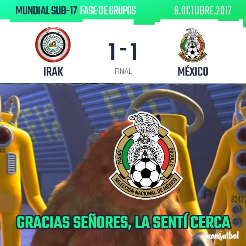 Irak agarró mal parado a México y por eso cayó el gol