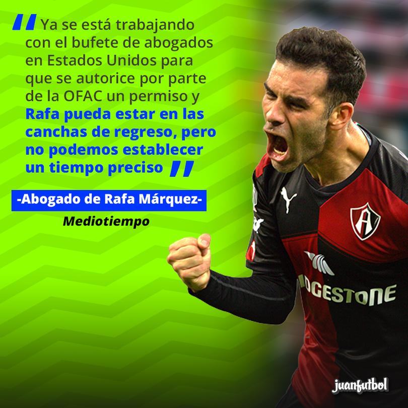 Rafa Márquez está cerca de volver