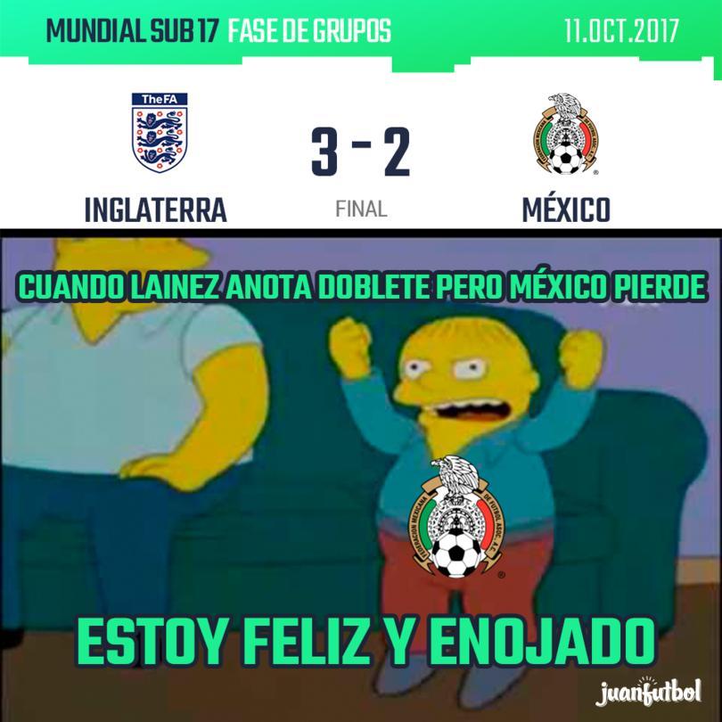 México pierde contra Inglaterra