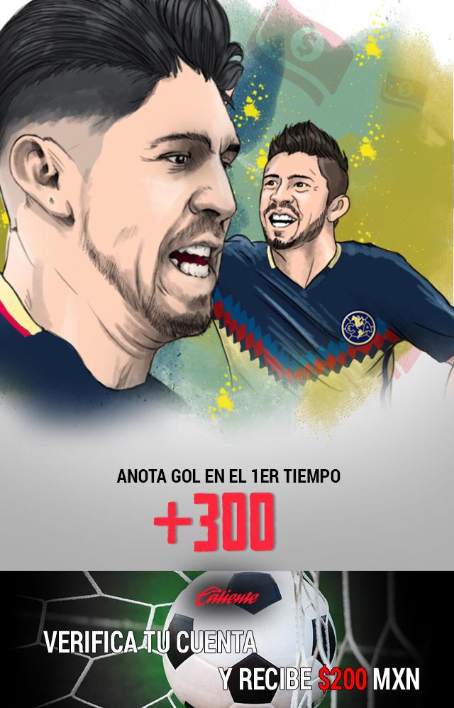 Si crees que Oribe Peralta anota gol en el primer tiempo vs Chivas, apuesta en Caliente y llévate mucho dinero.