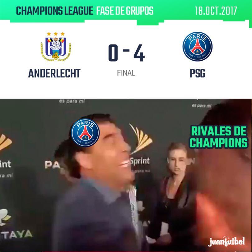 PSG golea al Anderlecht