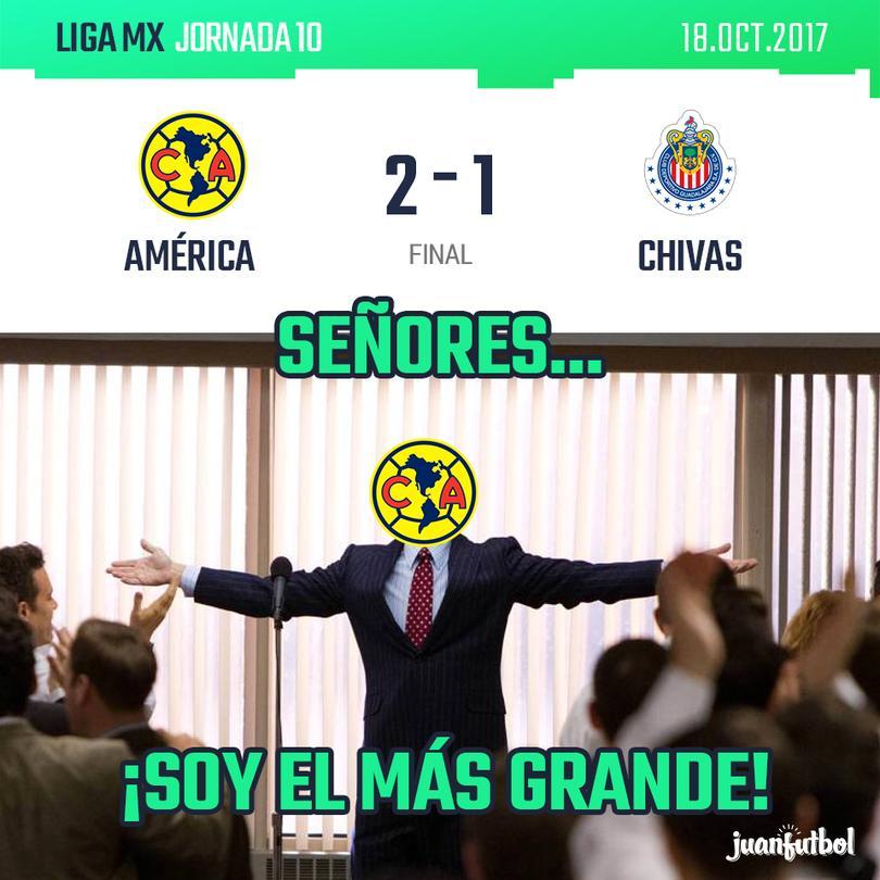 América le pega a Chivas