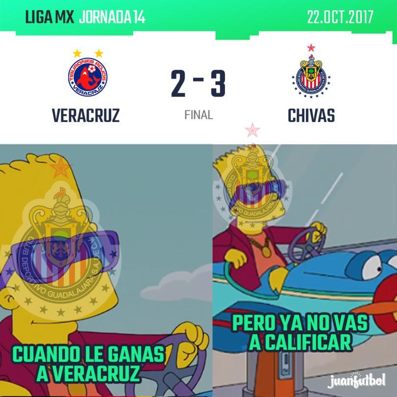 Chivas gana a Veracruz