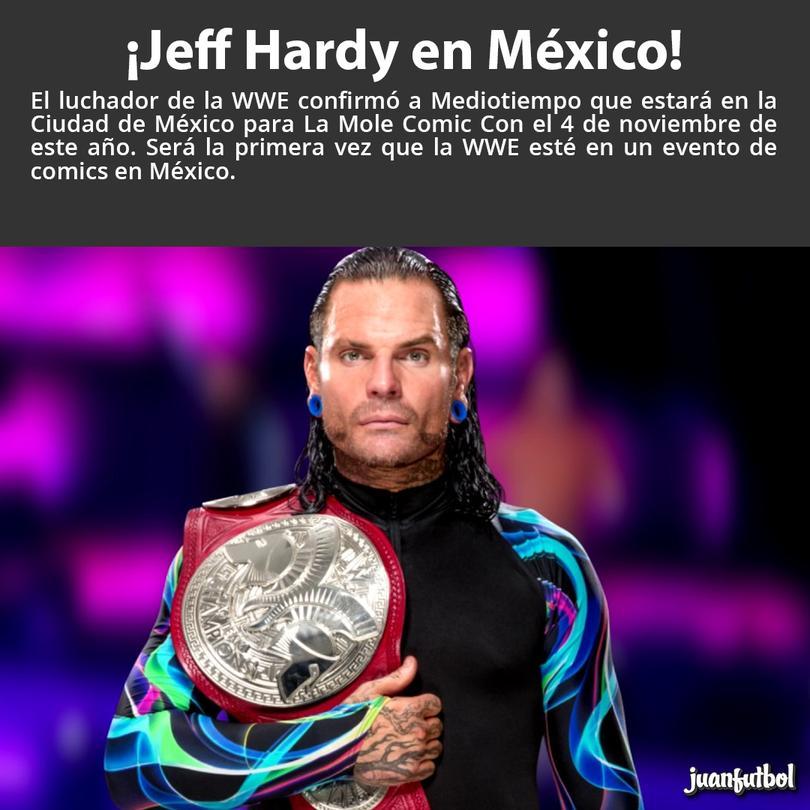 Jeff de la WWE en México