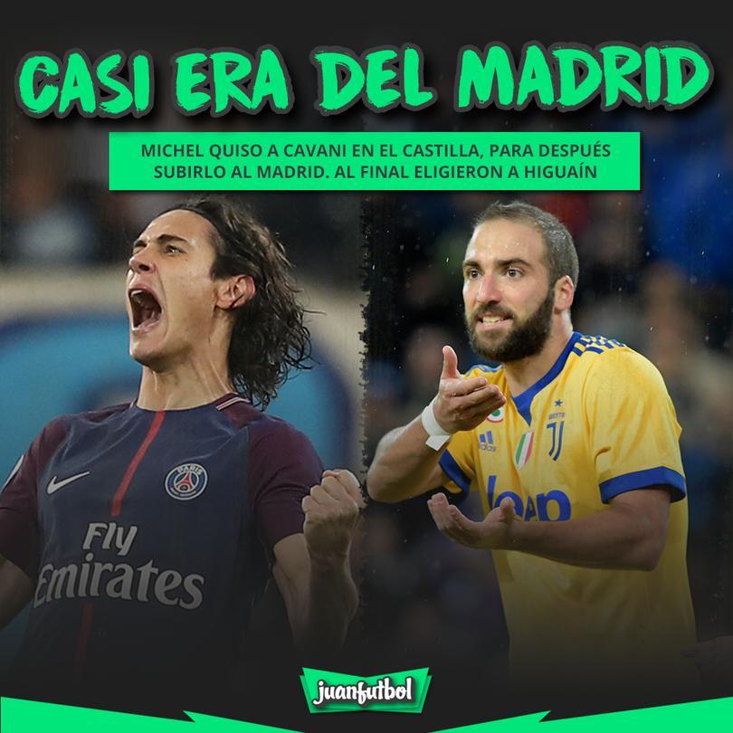 Cavani casi es del Madrid