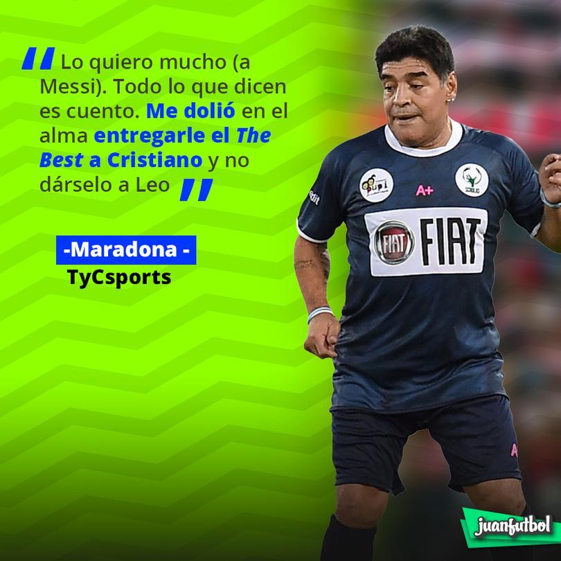 Maradona no quería darle el The Best a CR7
