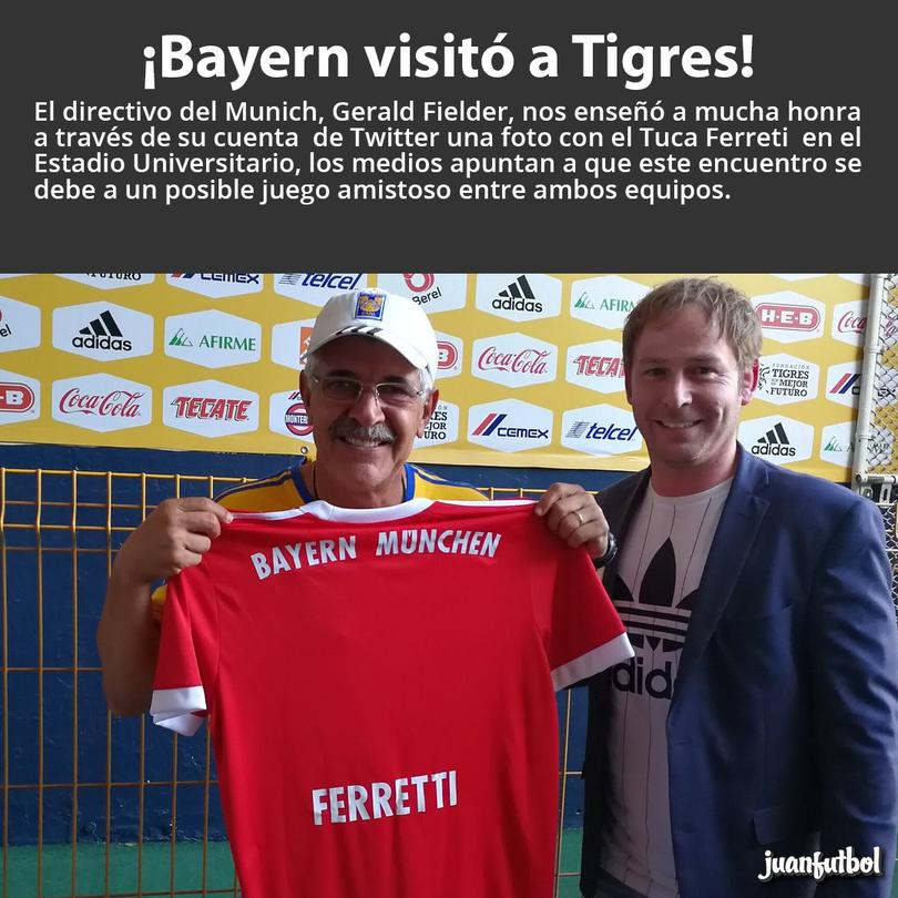 Bayern tendrá posible amistoso con Tigres