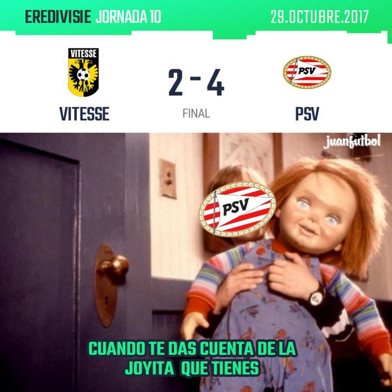 Chucky mete doblete contra el Vitesse