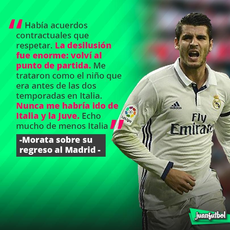 Morata se arrepiente de regresar al Madrid