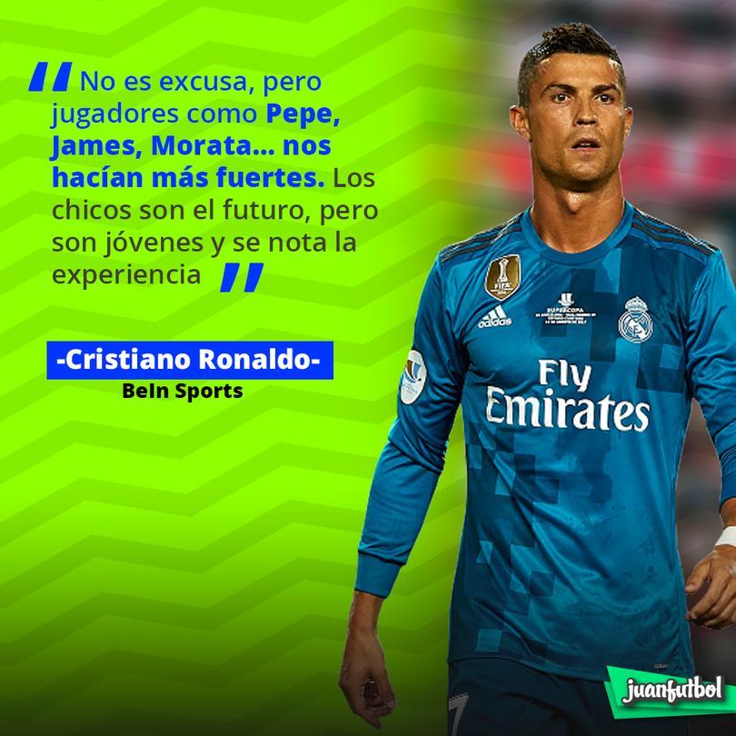 CR7 extraña a James, Morata y Pepe