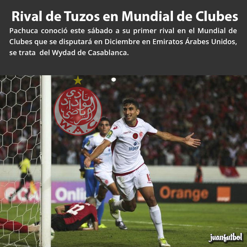 Pachuca ya tiene rival para el Mundial de Clubes