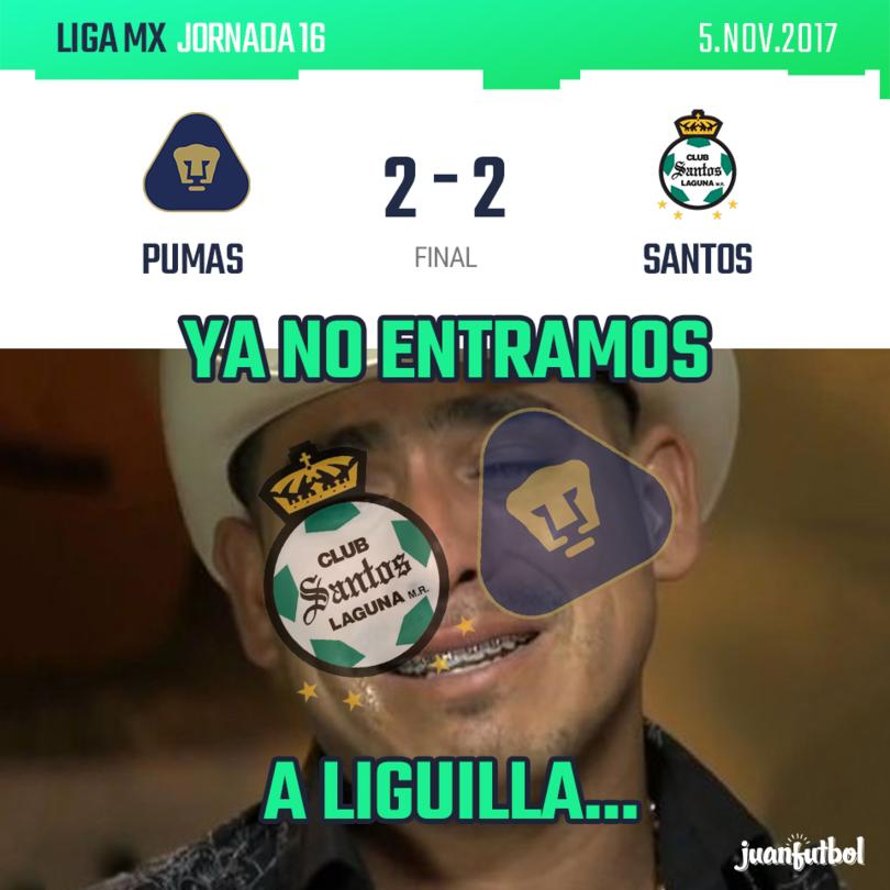 Pumas 2 - 2 Santos