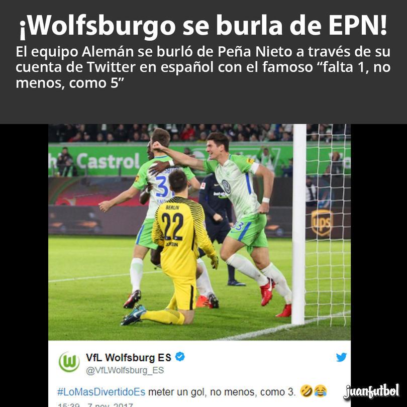 Wolfsburgo trolleo a Peña Nieto