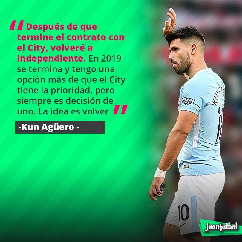 Kun Agüero acepta que quiere volver a Independiente