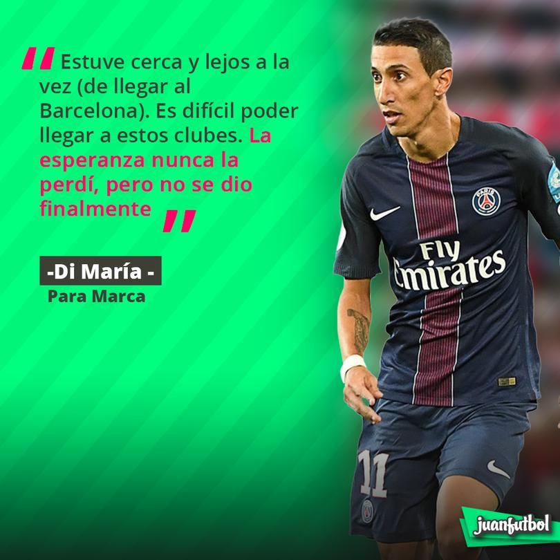 Di María explica por qué no llegó el Barcelona.