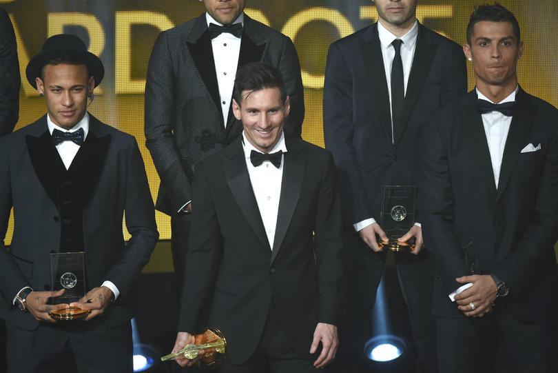 Neymar, Messi y CR7 en el Balón de Oro