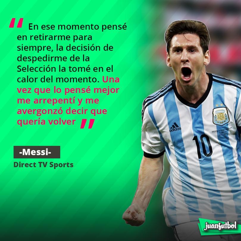 Messi habla sobre su retiro