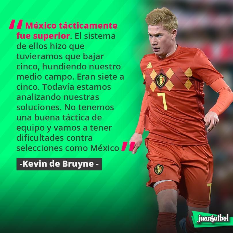 De Bruyne cree que México fue superior