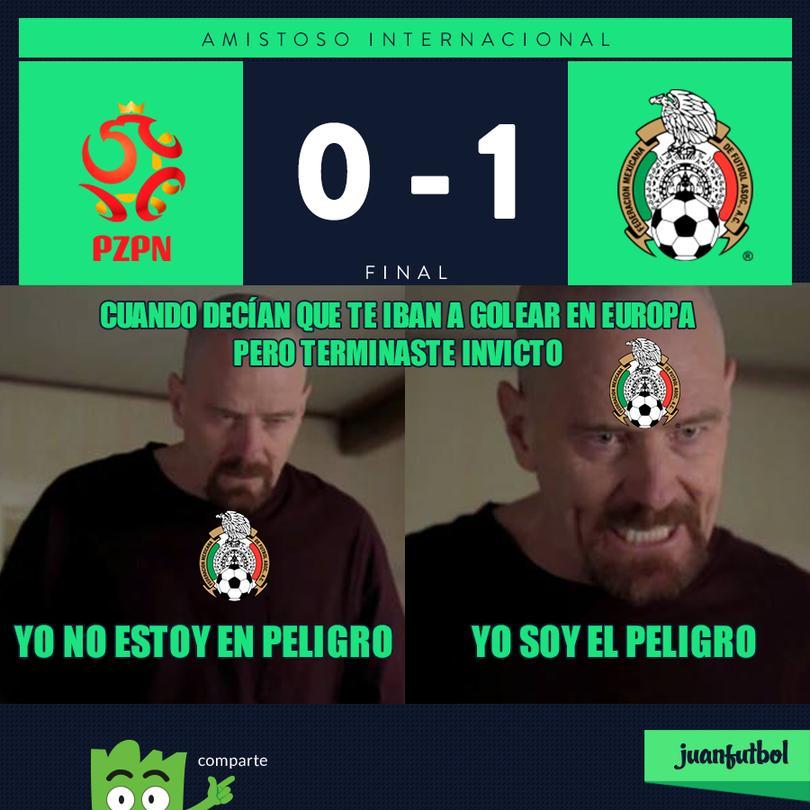 México gana a Polonia